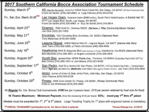 Southern California Bocce, Bocce Tournaments, SoCal, SoCal Bocce, USA Bocce, US Bocce, Western Sector Bocce, USBF, US Bocce Federation, California Bocce