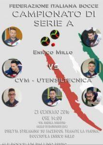 Bocce, Series A Bocce, Bocciofila Enrico Millo, Italian Bocce, Punto Raffa Volo, Bocce Championship, Bocce Campionato di Serie A