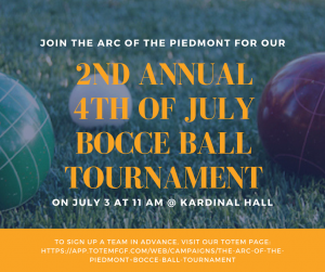 Bocce, BocceBall, Virginia Bocce, VA Bocce, VA Fundraiser, VA Charity, Charity, Fundraiser, Fundraising, East Coast Bocce, Charity Bocce, Southeast Bocce, Bocce Tournament, Bocce Tournaments, ARC of the Piedmont