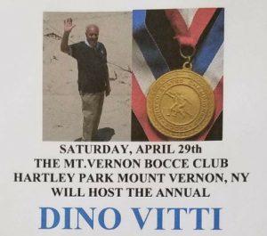 Dino Vitti, Bocce, New York Bocce, NY Bocce, NY Fundraiser, NY Charity, East Coast Bocce, Charity Bocce, Northeast Bocce