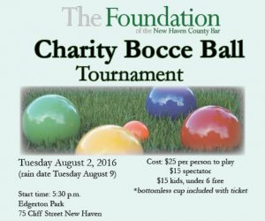Bocce, BocceBall, Connecticut Bocce, New Haven Bocce, CT Bocce, CT Fundraiser, CT Charity, Charity, Fundraiser, Fundraising, East Coast Bocce, Charity Bocce, Northeast Bocce, East Coast Bocce Tournament, Bocce Tournaments, New Haven County Bar Association, New Haven, CT, Connecticut