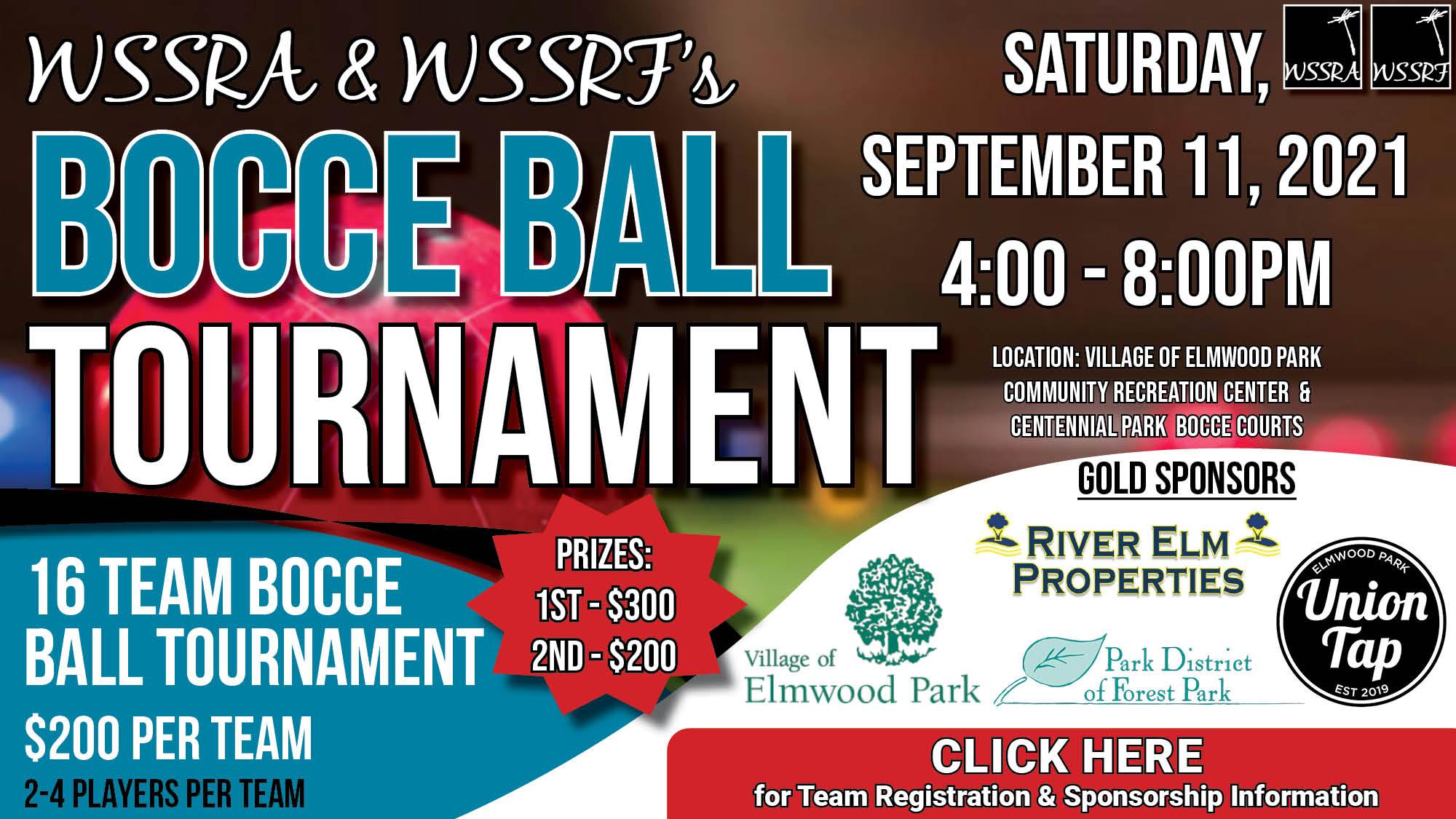 WSSRA & WSSRF'S Bocce Ball Tournament 2021