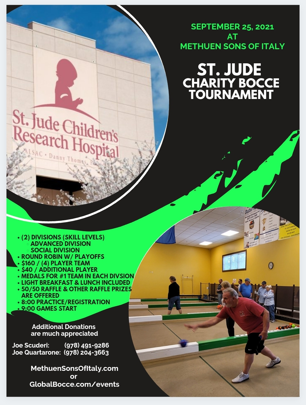 2021 St. Jude Bocce Tournament – Methuen Sons of Italy